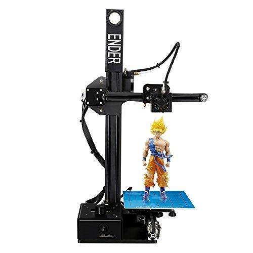 Luxnwatts Creality Ender 2 Mini Desktop 3D Printer DIY Kit Printing Size 150x150x200mm Mental Frame Reprap Prusa i3 With 1.75mm 0.4mm Nozzle FDM Injection Molded UK Plug (Black)