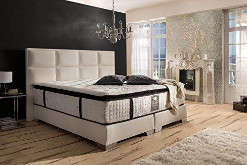 Luxury Boxspring Bed Quadro Hotel Bed Faux Leather 180 x 200/200 x 200 cm