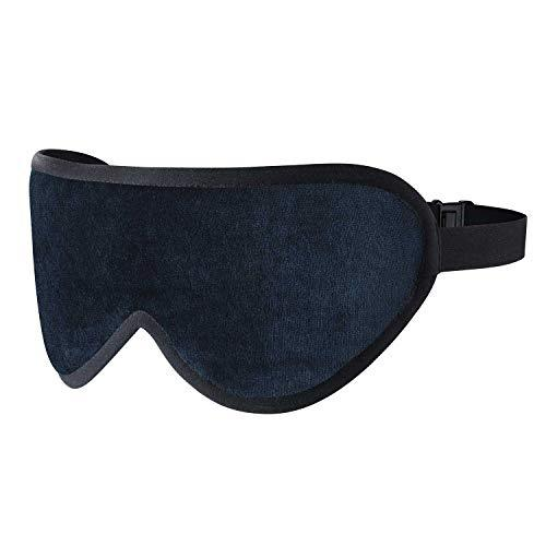 Luxury Sleep Mask Eye Shade made with Silk & infused with Lavender with velvet carry case. Perfect for sleeping at home or travelling. (Royal Navy Blue)