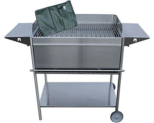 Luxury Stainless Steel Sleek Design Charcoal Barbecue with Wheels Full Complete Refill Pack for Premio XL
