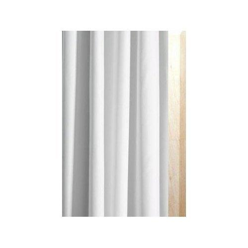Luxxur PLUS Superior Anti-Bacterial 300cm Wide x 180cm Drop White Polyester Fabric Shower Curtain With heavier 50g Weighted Hem & Rustproof Eyelets