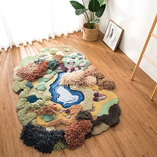 LUYIASI- Creative Forest Carpet Green Lawn Designer Original Personality Carpet Children Play Climbing Blanket Non-slip mat (Size : 200 * 300cm)