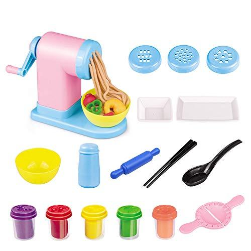 LVYE1 Choi Mud Pasta Machine Plasticine Ultralight And Non-Toxic Clay Clay Toy Plasticine And Tool Set Children's Gift,A