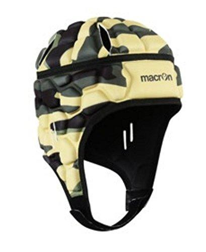 Macron Protective Goalkeeper Football / Rugby Helmet, XE Camouflage, Black , M/L