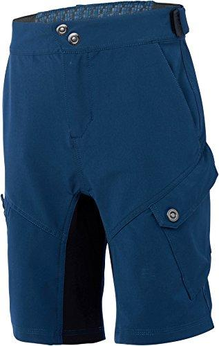 Madison Zen Youth Baggy Cycling Shorts - Blue, Age 13-14 / Children Child Kid Boy Girl Unisex Junior Mountain MTB Bicycle Cycle Biking Bike Riding Ride Legging Leg Pant Trouser Wear Clothing Clothes