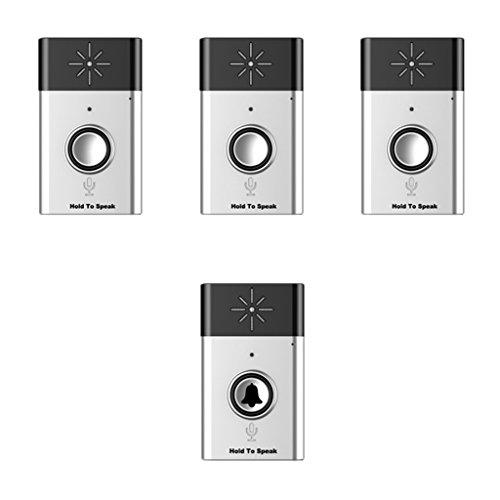 MagiDeal 300M Range Wireless Doorbell Door Chime Button Bell with Voice Intercom 1 Transmitter+3 Receiver Home Security Systems