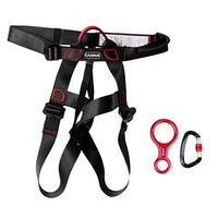 MagiDeal New Rock Climbing Sit Harness + 35KN Figure 8 Belay Device + 25KN Carabiner