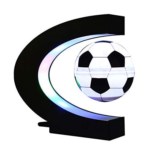 Magnetic Floating Football, Levitation Rotating with LED Lights Magnetic Levitation Floating Football for Decoration in Office and House for Children Gift 3 Inch Table lamp