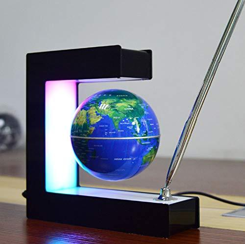 Magnetic Suspension Globe Creative Desktop Decoration Table Lamp LED Night Light for Kids and Adults Perfect Gift,Blue