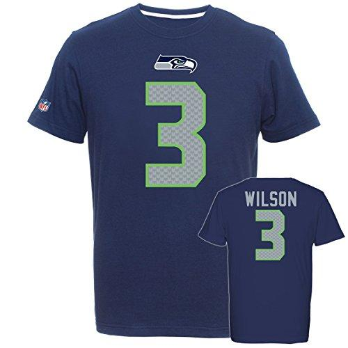 Majestic NFL Fan Shirt - Seattle Seahawks 3 Russell Wilson - 3XL