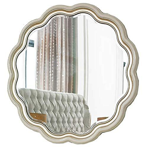 Makeup mirror Aristocratic Mirror, Solid Wood Furniture Bedroom Living Room Dining Room Decoration Solid Wood Combination Simple Solid Wood Environmental Protection Paint H