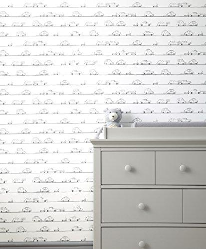 Mamas & Papas Self Adhesive Wallpaper, Cars, Nursery Décor, Child's Bedroom