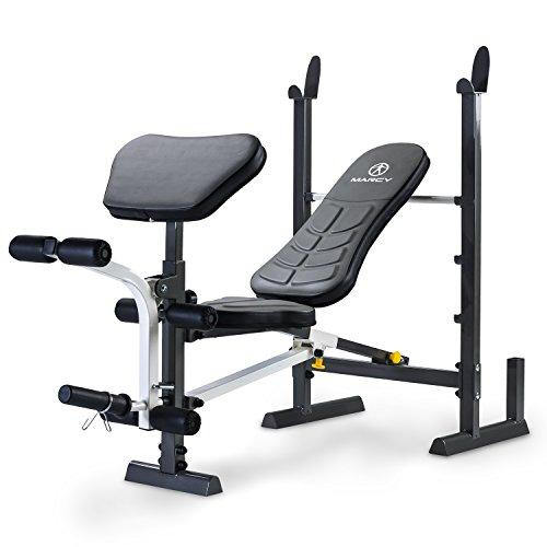 Marcy Folding MWB-20100 Standard Weight Bench with Rack, Black, One Size