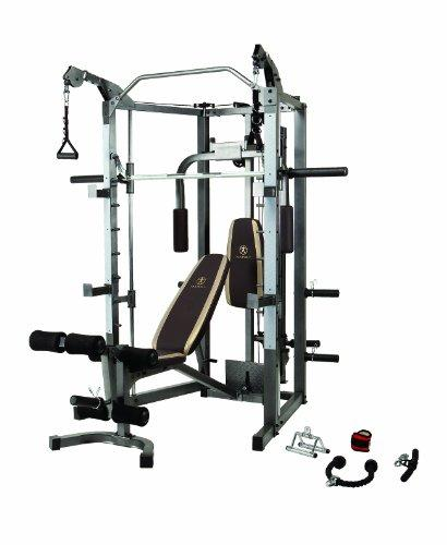 Marcy Unisex's Classic Smith Machine and Weight Bench Combo, Grey, One Size