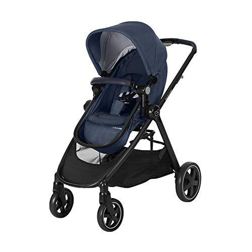 Maxi-Cosi Zelia Baby Pushchair, Lightweight Urban Stroller from Birth, Travel System with Bassinet, 0 Months - 3.5 Years, 0 - 15 kg, Nomad Blue