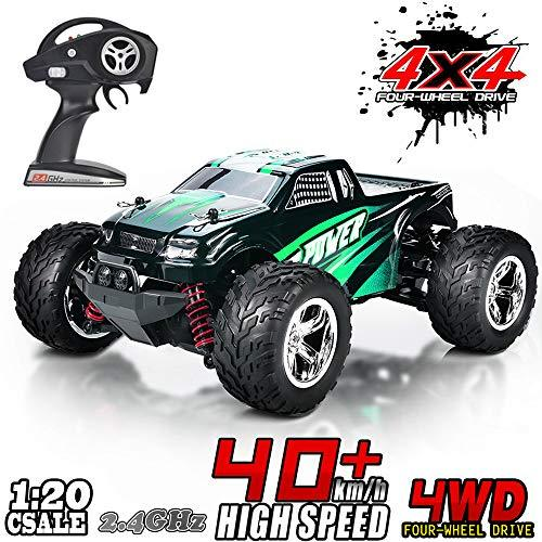 MaxTronic RC Car 1:20 4WD High Speed Off Road Remote Control Car 45km/h 2.4GHz All Terrain Radio Controlled Racing Monster Truck 1500mAh Lithium Battery (green)