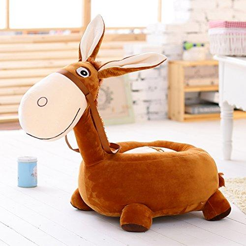 MAXYOYO Kids Plush Toy Little Donkey Ultra Soft Stuffed Plush Doll,Tatami Sofa Chair for Children,Best Gift for Toddler/Children/Baby