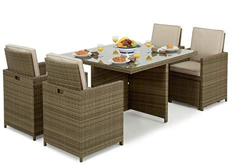 Maze Rattan Rattan Tuscany - 5pc Cube Set with Footstools Garden Furniture