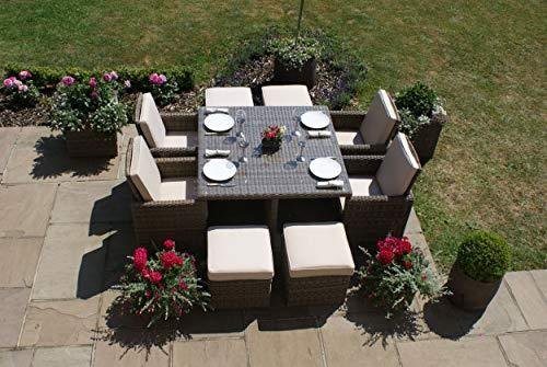 Maze Rattan Rattan Winchester 5 Piece Cube Set with Footstools