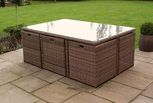 Maze Rattan Rattan Winchester 7pc Cube Set with Footstools