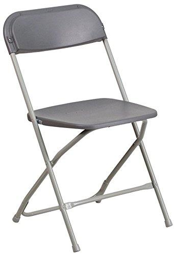 McCourt 31030-10 Series 5 Dining Height Stackable Folding Chair, Gray Frame, Charcoal Seat/Back (Pack of 10)