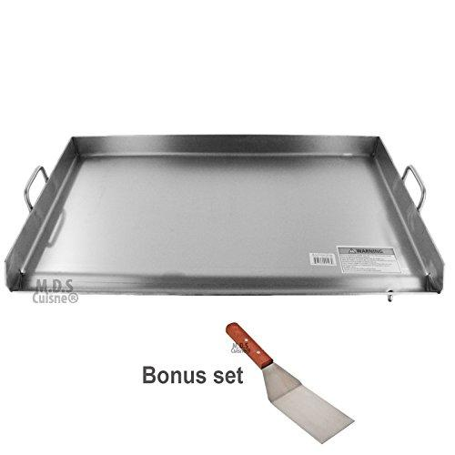 M.D.S Cuisine Cookwares Griddle Grill Stainless Steel Plancha BBQ Heavy Duty Comal Outdoor Stove