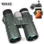 Meade Compact Binoculars, 10X42 Pocket Size Binoculars with Clear Vision for Bird Watching, Travel, Concert, Hunting Army Green (Army Green)