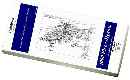 Media Storehouse 1000 Piece Puzzle of Boeing AH-64D Longbow Apache Cutaway Drawing (1570991)