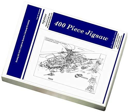 Media Storehouse 400 Piece Puzzle of Boeing AH-64D Longbow Apache Cutaway Drawing (1570991)