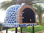 Mediterrani Blue Mosaic - Outdoor Wood Fired Pizza Oven - 110cm Insulated