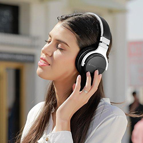 b72c272e96a ... meidong E7B Active Noise Cancelling Headphones Wireless Bluetooth  Headphones with Microphone Over Ear 30H Playtime Deep ...