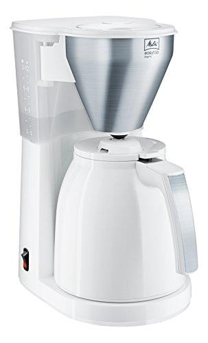 Melitta Easy Top Therm, 1010-07, Filter Coffee Machine with Insulated Jug, White/Brushed Steel