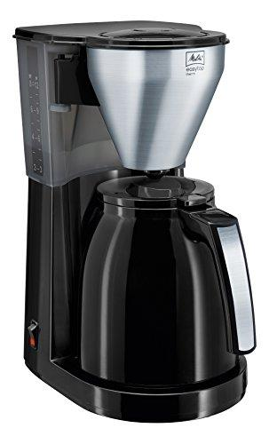 Melitta Easy Top Therm, 1010-08, Filter Coffee Machine with Insulated Jug, Black/Brushed Steel