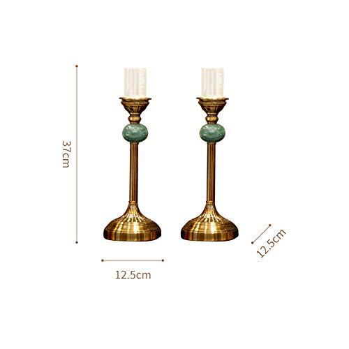 MENGMEI European-Style Model Room Creative Clock Decoration American Living Room Table Candlestick Decoration Household Wine Rack Decoration