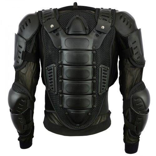 Mens Body Armours Motorcycle CE Approved Motorbike Chest Shoulder Back Guard Protector Armors Spine Protection Jacket - - Black XL