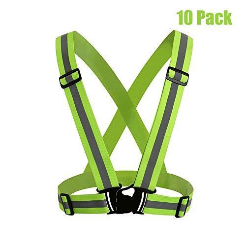 MeOkey Adjustable Reflective Safety Vest Waist Belt High Visibility for Running, Walking, Cycling, Outdoor Jogging, Motorcycle