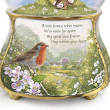 'Messenger From Heaven' Robin Glitter Globe Exclusively available from The Bradford Exchange