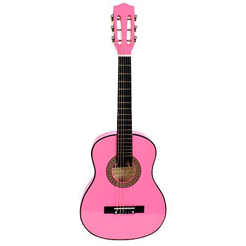 MGM – 621608yr – Musical Instrument – WS Classical Guitar, Pink, 75 cm