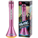 Mi-Mic kids Karaoke Microphone Speaker with Wireless Bluetooth and LED Lights, Pink