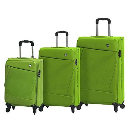 Mia Toro Italy Civetta Softside Spinner Luggage 3 Piece Set, Green