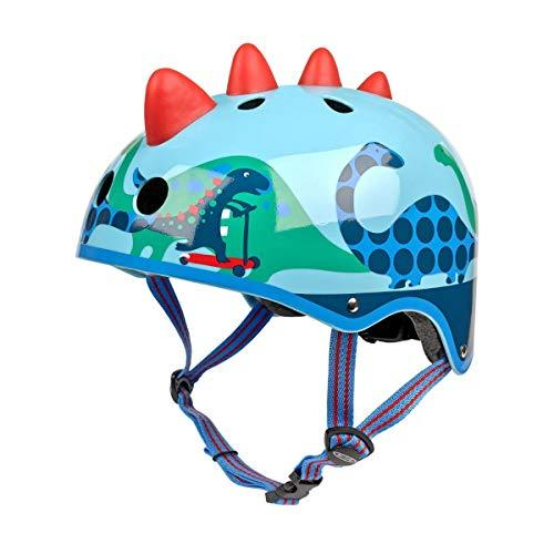 Micro Childrens Safety Helmet: Scootersaurus 3D Small 48-52Cm Dinosaur Pattern Boys Nursery Scooting Bike