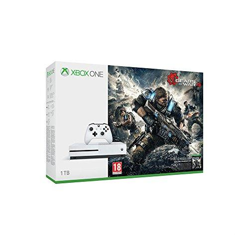 Microsoft Xbox One S + Gears of War 4 - game consoles (Xbox One S, HDD, White, IEEE 802.11a, IEEE 802.11b, IEEE 802.11g, IEEE 802.11n, AMD Jaguar, AMD Radeon)