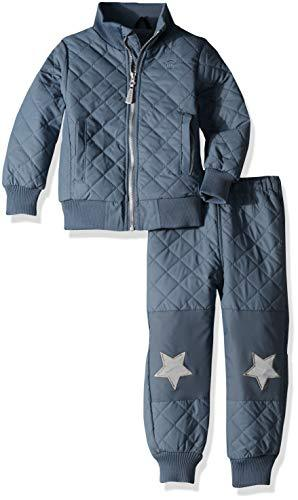 MIKK-Line - Melton Kids & Baby Infant, Toddler & Kids Quilted Fleece Top & Bottom Snow Set, China Blue, 5-6Y