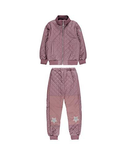 MIKK-Line - Melton Kids & Baby Quilted Thermoset Fleece Lined Top & Bottom Snow Set, Flint, 9-10Y