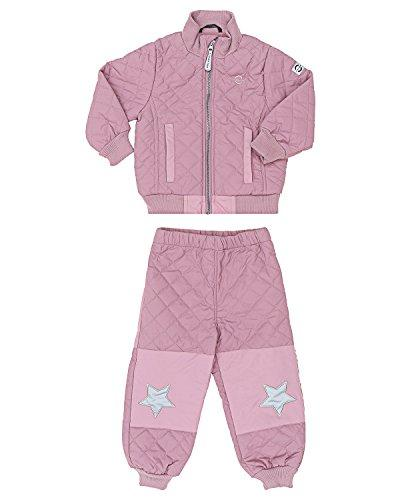 MIKK-Line - Melton Kids & Baby Quilted Thermoset Fleece Lined Top & Bottom Snow Set, Lavanda, 6-9M