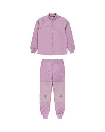 MIKK-Line - Melton Kids & Baby Quilted Thermoset Top & Bottom Snow Set, Very Grape, 4-5Y