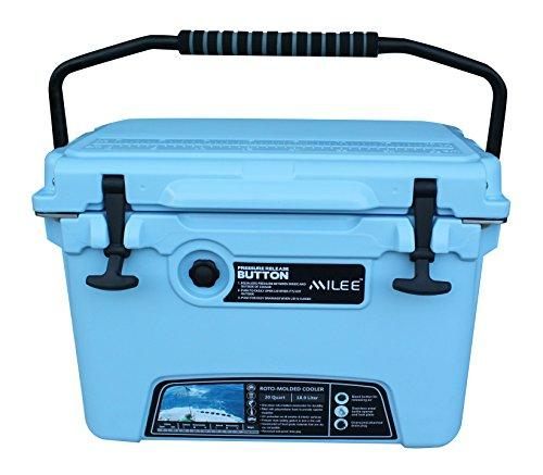 MILEE ICE CHEST 20qt Cooler -Sky Blue with Basket and cup holder free