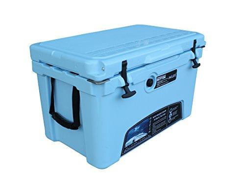 MILEE ICE CHEST 45qt Sky Blue with Divider,basket and cup holder.