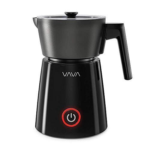 Milk Frother, VAVA Detachable Milk Frother, Electric Liquid Heater for Hot and Cold Milk (Stainless Steel, Silent Operation, Auto Shut Off, and Non-Stick Interior)