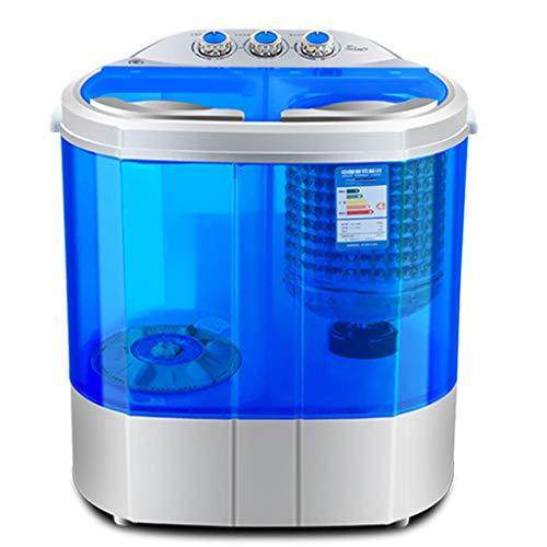 Mini Washing Machine Portable Spin Dryer Compact Clothes Washer 2.2KG Washing Capacity Semi-automatic Double Barrel Travel Household Easy To Move (Color : Blue)